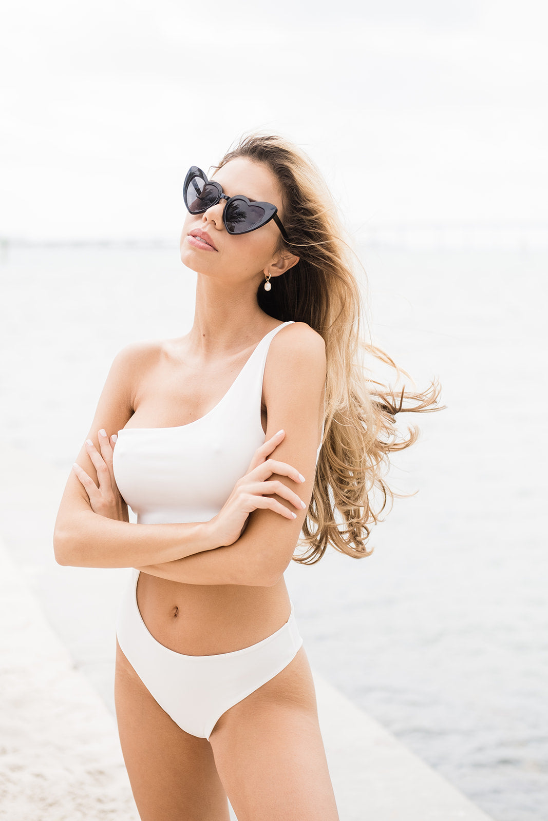 Black Heart True Love Sunglasses - The Beach Bride by Chic Parisien, a destination for beach weddings, bachelorettes and honeymoons
