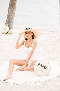 The Turquoise Coast Roundie Beach Towel - The Beach Bride by Chic Parisien, a destination for beach weddings, bachelorettes and honeymoons