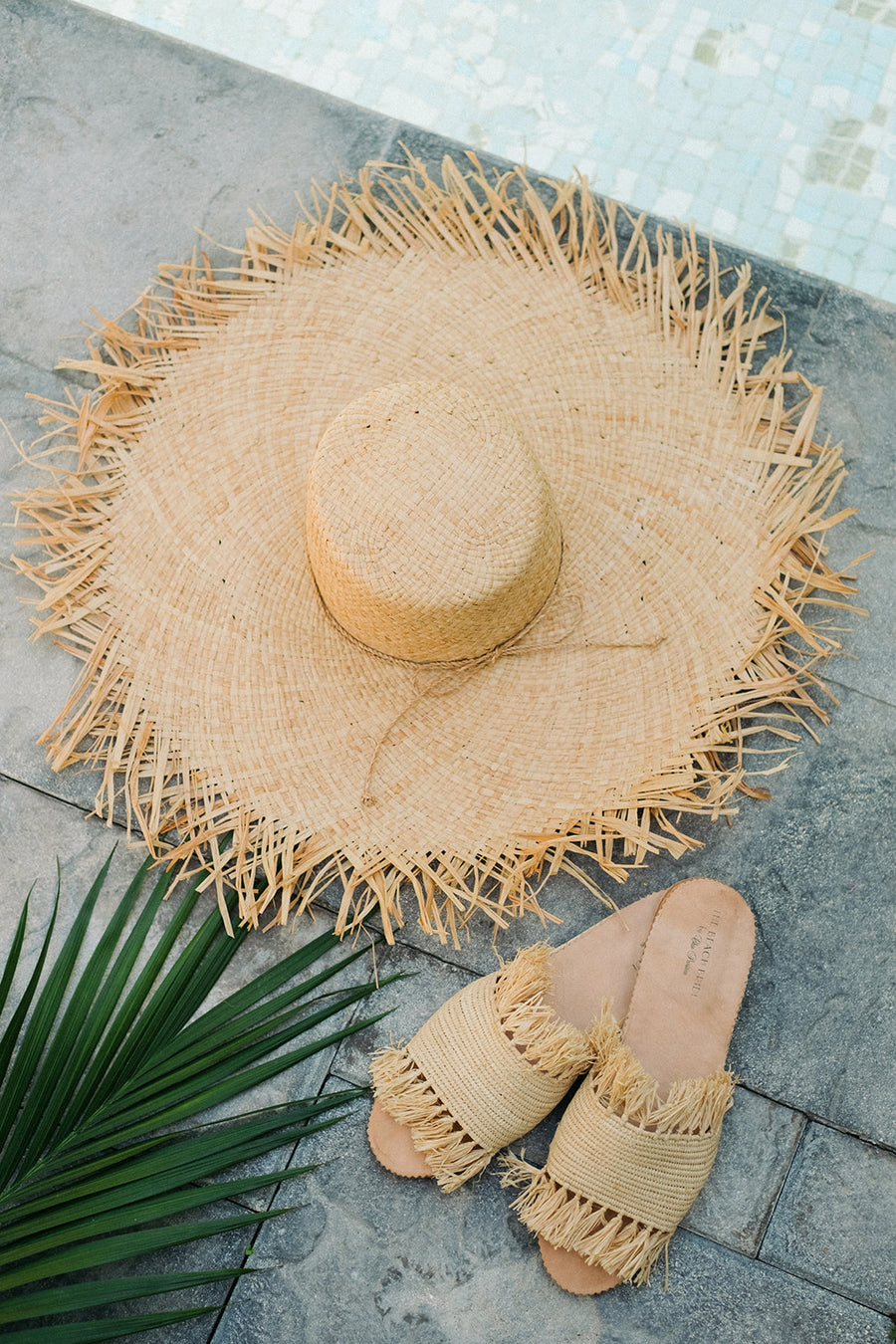 Turks Wide Brimmed Frayed Edge Sunhat - The Beach Bride by Chic Parisien, a destination for beach weddings, bachelorettes and honeymoons