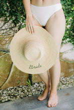 Load image into Gallery viewer, Bride Sun Hat by HatAttack - The Beach Bride by Chic Parisien, a destination for beach weddings, bachelorettes and honeymoons