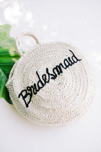 Load image into Gallery viewer, Bridesmaid Circle Straw Bag - The Beach Bride by Chic Parisien, a destination for beach weddings, bachelorettes and honeymoons
