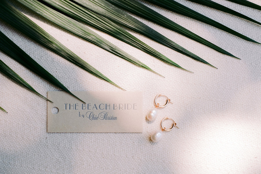 Potato Pearl Hoops by NST Studio - The Beach Bride by Chic Parisien, a destination for beach weddings, bachelorettes and honeymoons