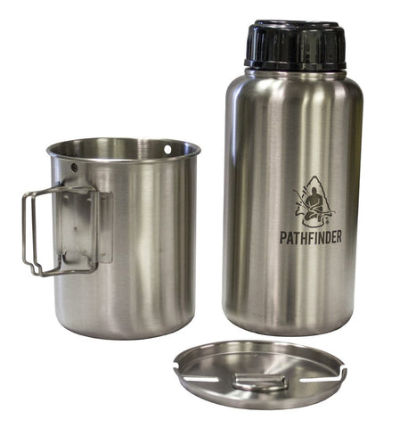 32 oz Stainless Steel Water Bottle and Nesting Cup Set