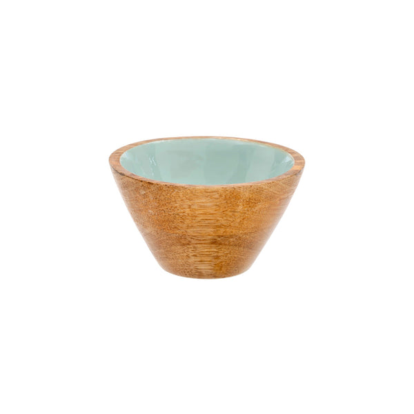 Wood & Enamel Bowl | Sky, Small
