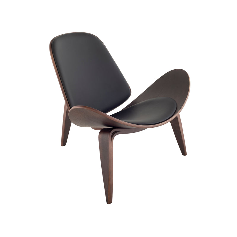 crown and birch adrik nuevo occasional chair black natural front angle