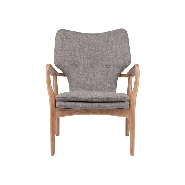 Rosslyn Occasional Chair | Medium Grey Tweed