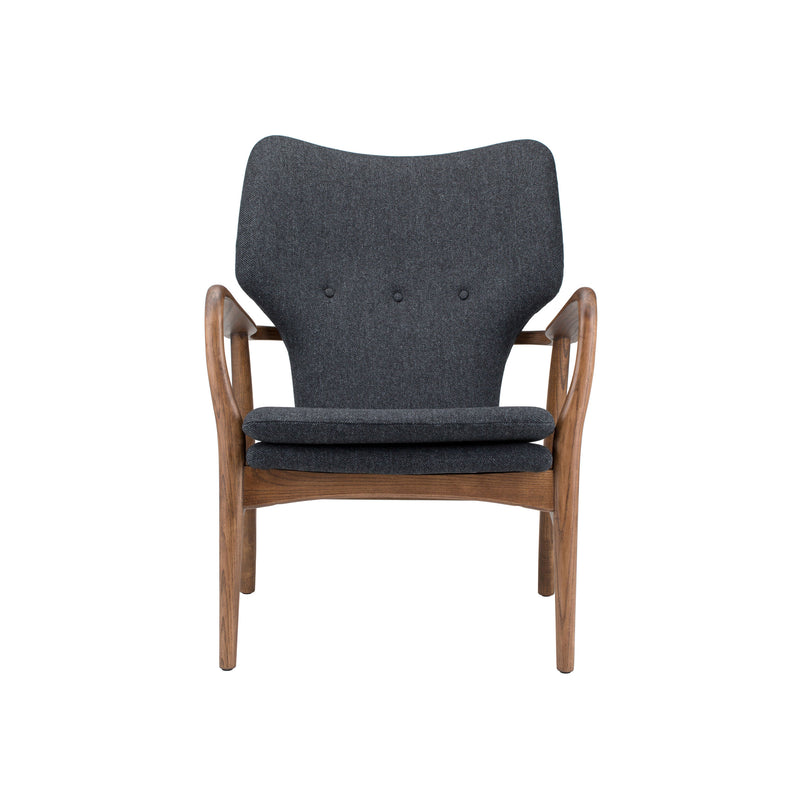 Rosslyn Occasional Chair | Dark Grey Tweed