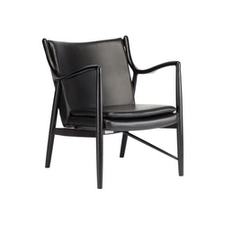 Steven Occasional Chair | Black Leather