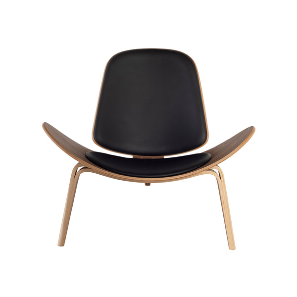 crown and birch adrik nuevo occasional chair black natural front