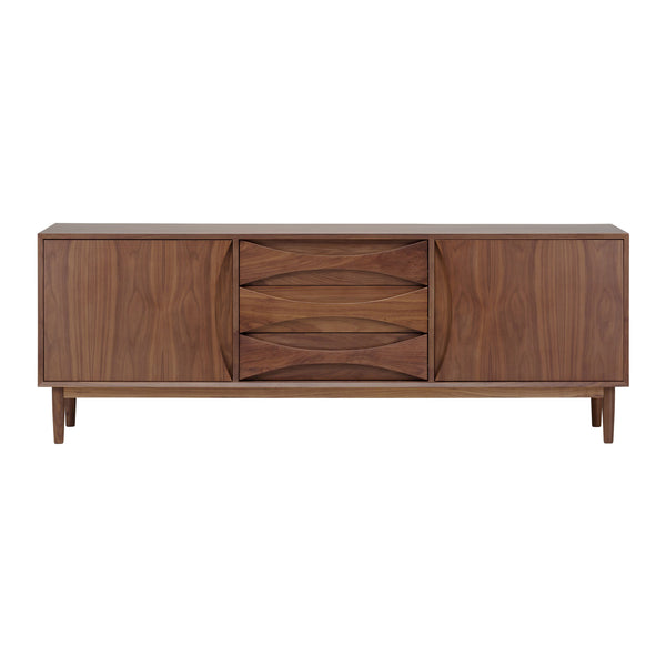 crown and birch adalyn nuevo sideboard walnut front