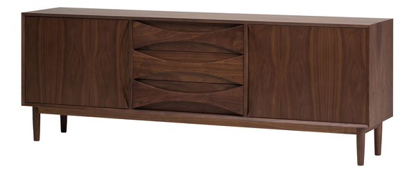 crown and birch adalyn nuevo sideboard walnut angle