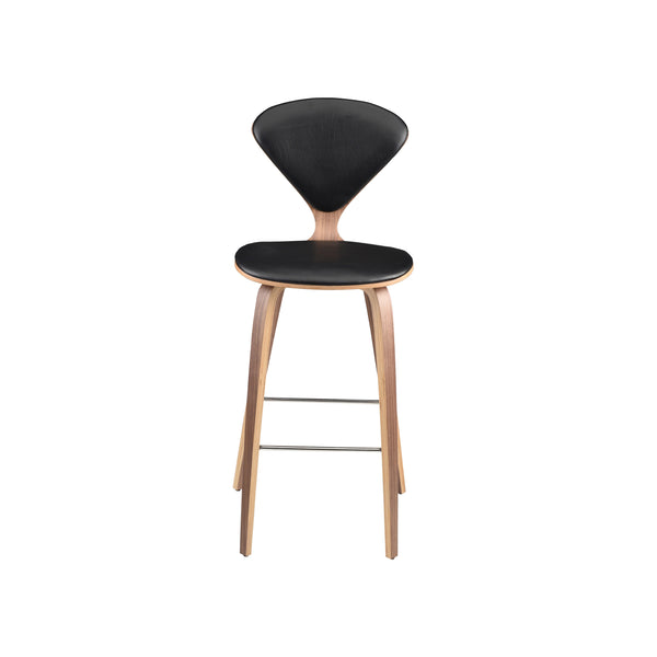 Sarai Stool | Black Leather