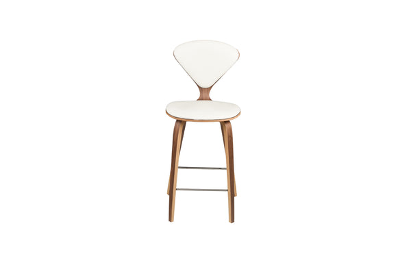Sarai Stool | White Leather