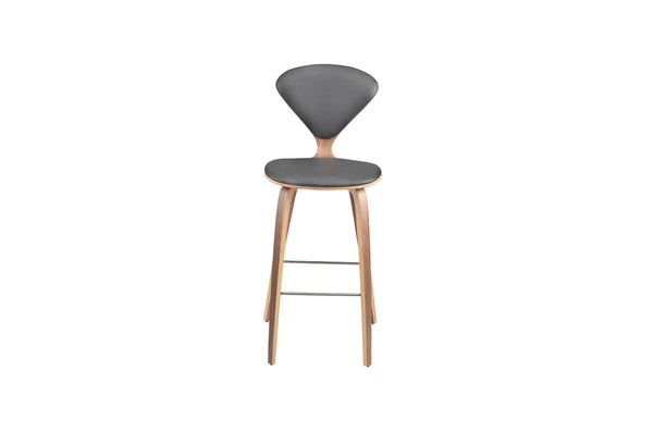 Sarai Stool | Grey Leather