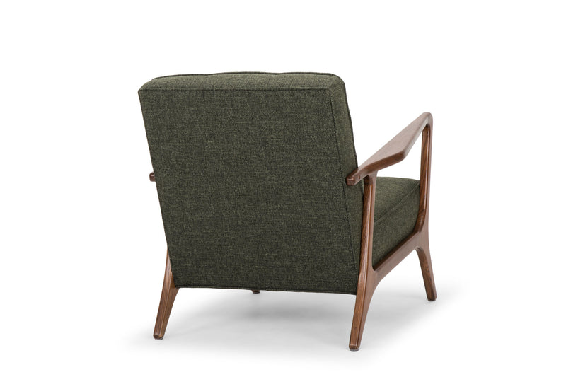 Jacquie Occasional Chair | Hunter Green Tweed