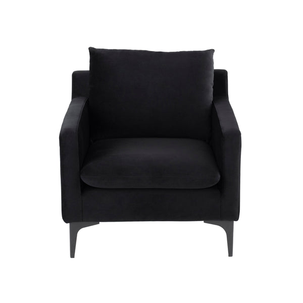 Brigitte Occasional Chair | Black / Black Legs