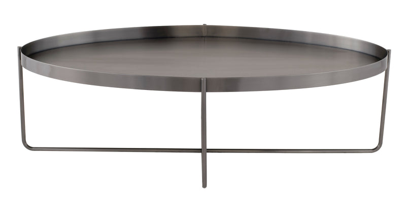 Kathleen Coffee Table | Graphite / Oval