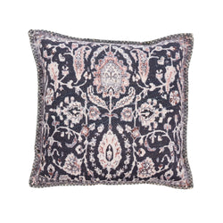crown and birch tasseled cushion black indaba front