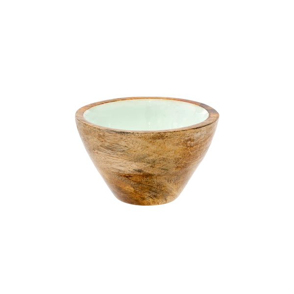Wood & Enamel Bowl | Mint, Small