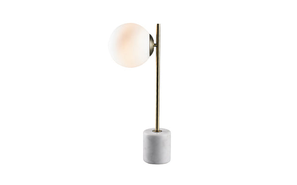crown and birch lamp cali table marble gold closeup