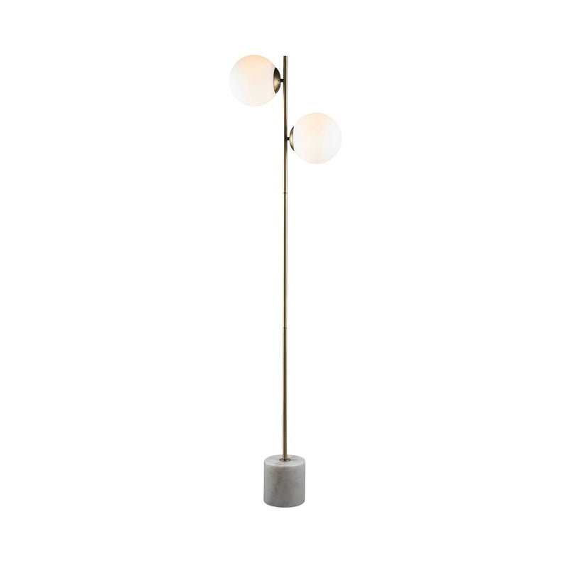 crown and birch lamp floor cali gold marble