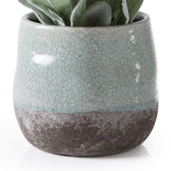 crown and birch corsica ceramic crackle round pot blue torre and tagus detail