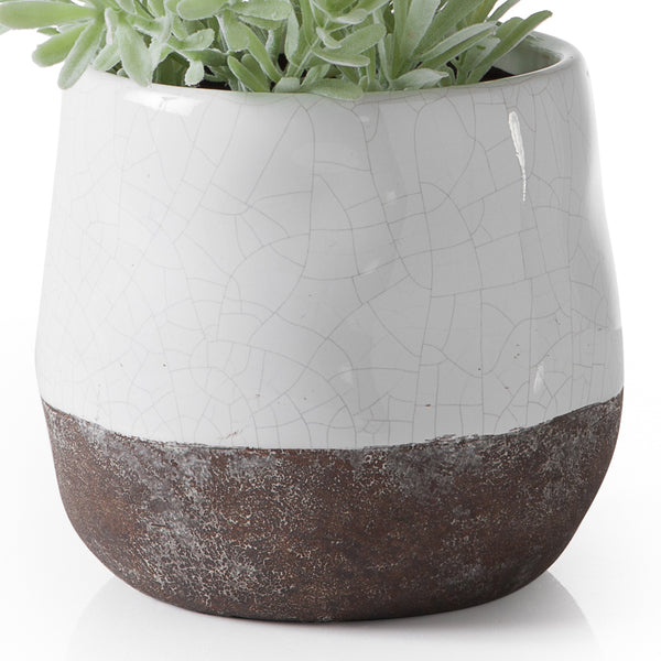 crown and birch corsica ceramic crackle round pot white torre and tagus detail
