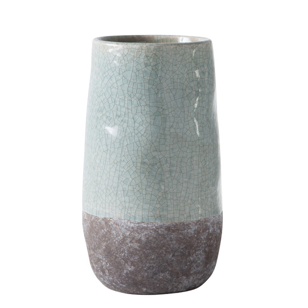 crown and birch corsica ceramic crackle vase blue torre and tagus front