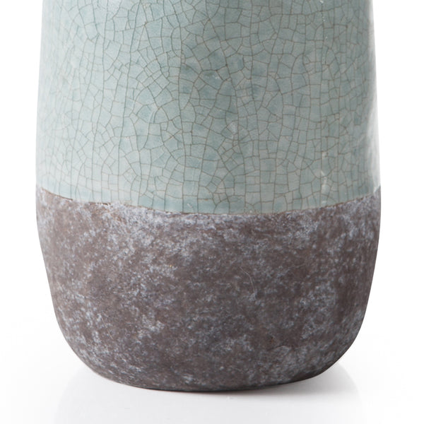 crown and birch corsica ceramic crackle vase blue torre and tagus detail