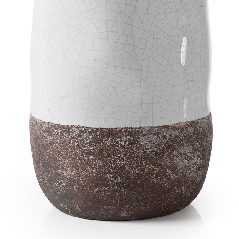 crown and birch corsica ceramic crackle vase white torre and tagus detail