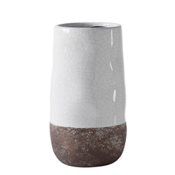 crown and birch corsica ceramic crackle vase white torre and tagus front