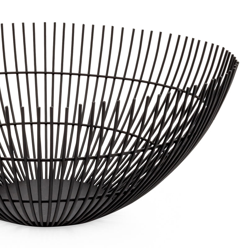 crown and birch rib metal wire bowl black torre and tagus detail