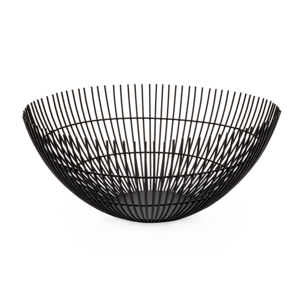 "Rib Metal Wire 11"" Diameter Bowl"