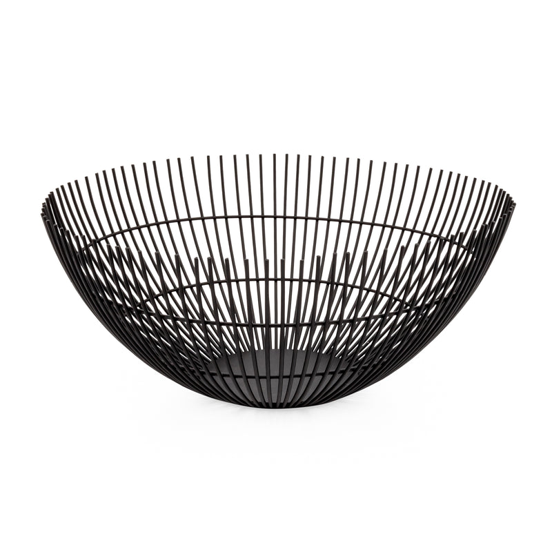 crown and birch rib metal wire bowl black torre and tagus front