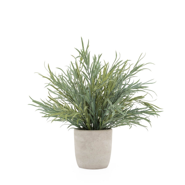 crown and birch lavender faux plant front