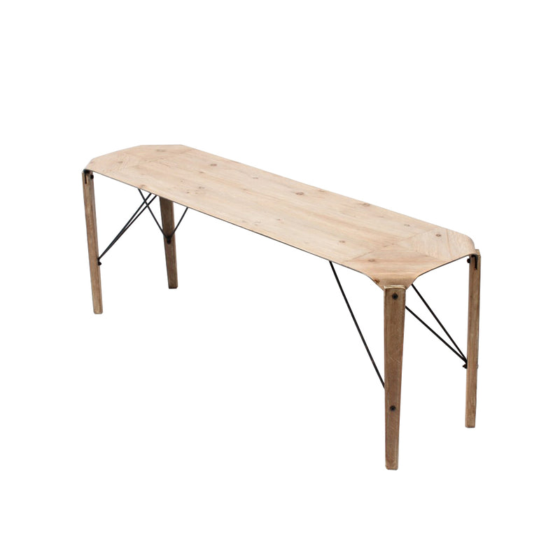 crown and birch lexi iron bench zahra angle