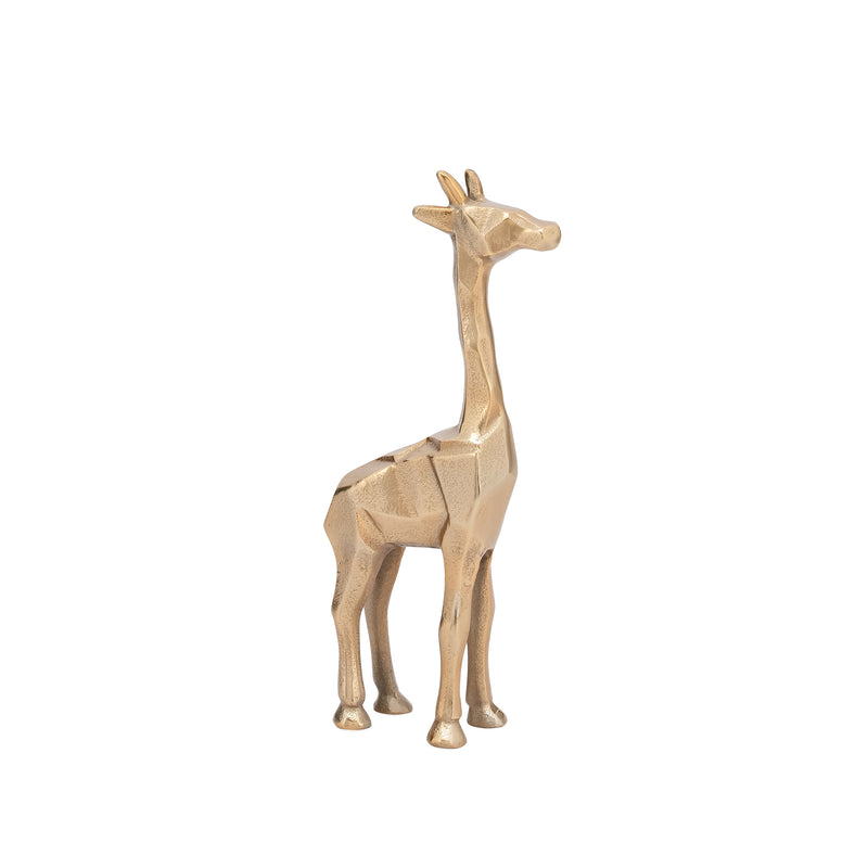 carved aluminum giraffe decor gold short