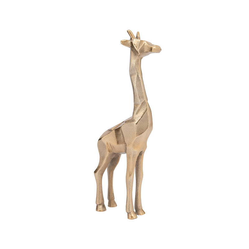 carved aluminum giraffe decor gold tall