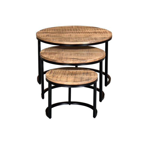 crown and birch 3 piece grey accent tables front