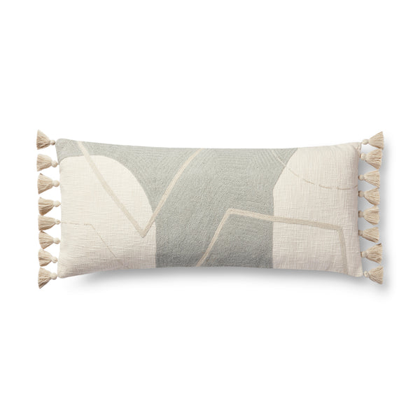 loloi p0942 grey multi pillow front