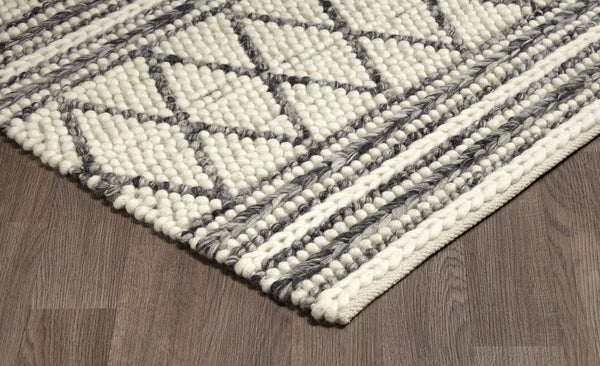 crown and birch aberdeen rug grey ivory corner