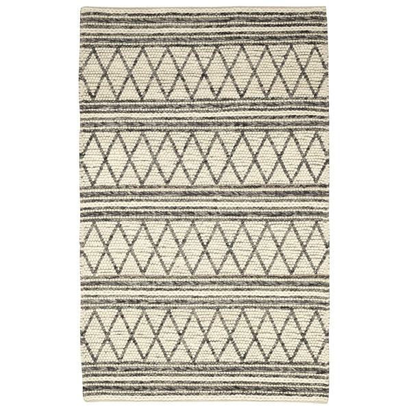crown and birch aberdeen rug grey ivory front