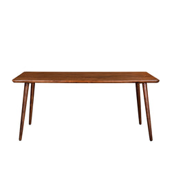 crown and birch acacia walnut rectangle dining table front