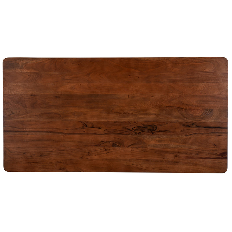 crown and birch acacia walnut rectangle dining table top