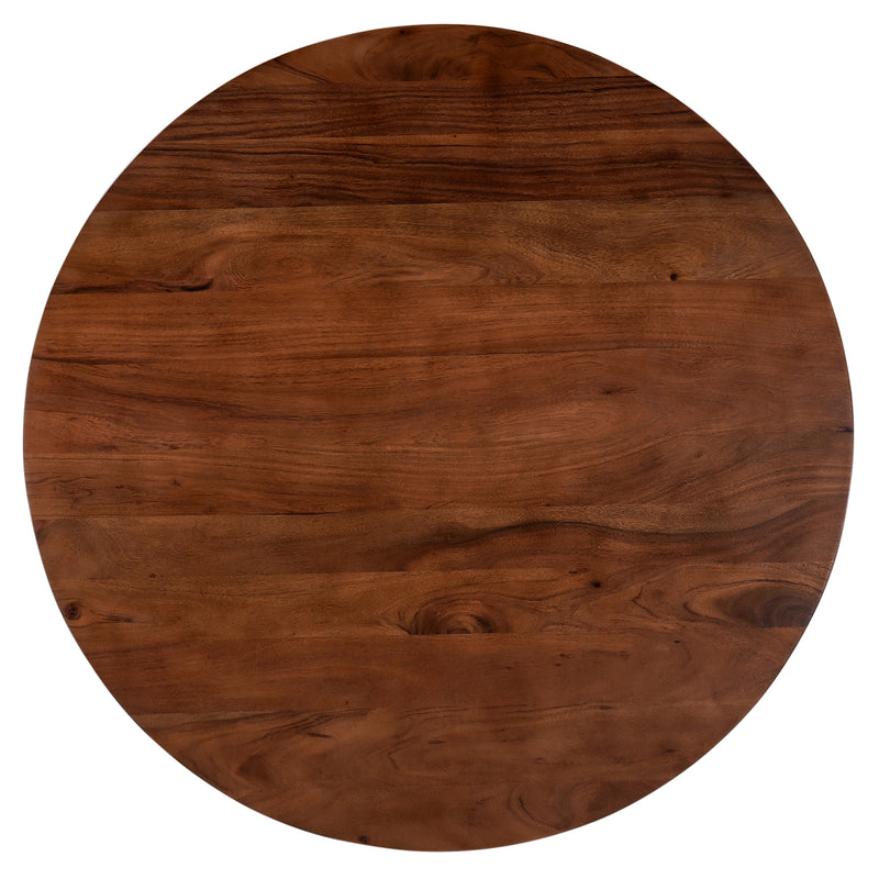 crown and birch acacia walnut round dining table top