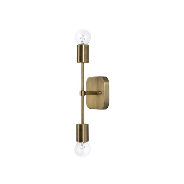 crown and birch alaina sconce bushed brass angle