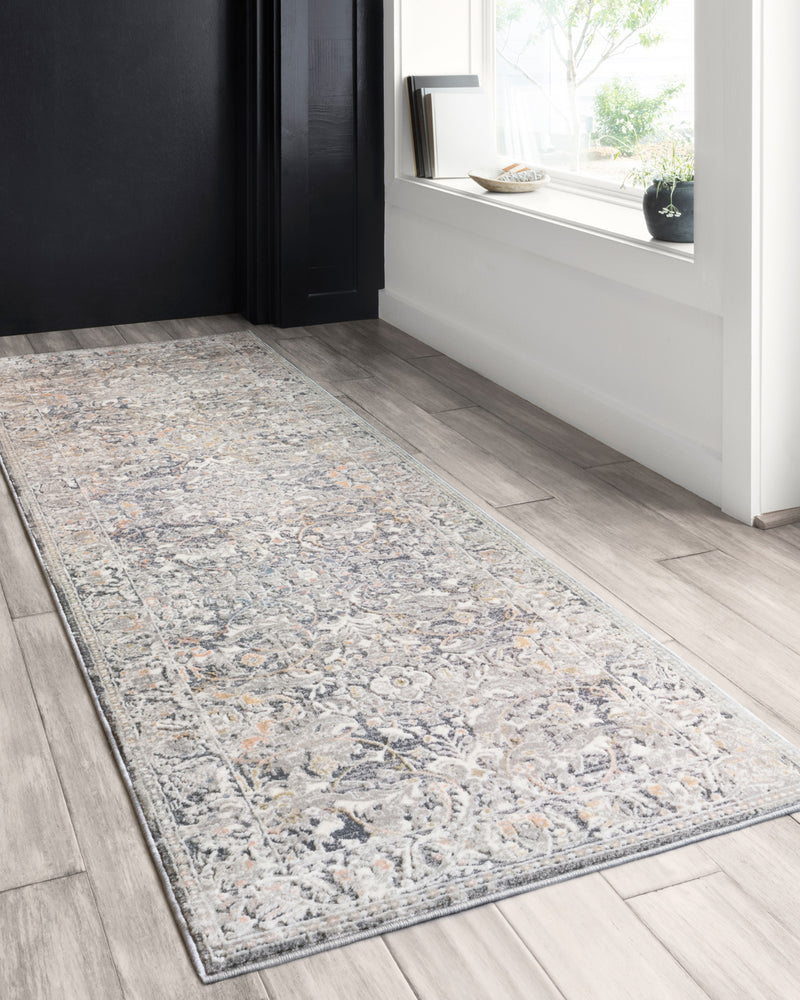 crown and birch alessi rug grey mist runner scene