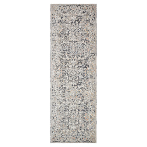 crown and birch alessi rug grey mist runner