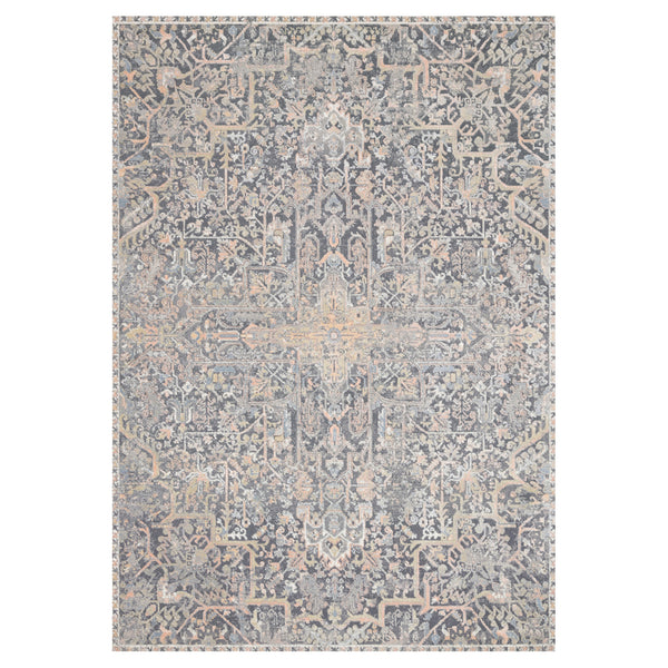crown and birch alessi rug charcoal multi front