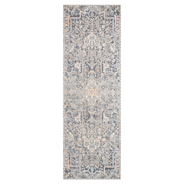 crown and birch alessi rug charcoal multi runner